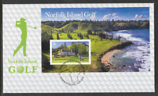 NORFOLK IS 2018 GOLF COURSE SOUVENIR SHEET FDC