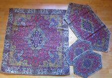 Silk Termeh BRAND NEW PERSIAN TERMEH TABLE RUNNER  handwoven 4 pieces set