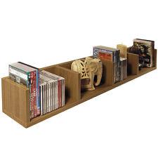 VIRGIL - CD / DVD / Blu-ray / Video Media Wall Storage Shelf - Oak MS4W121