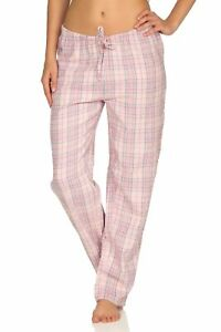 Dame Flanell Schlafanzug Hose kariert aus Baumwolle - ideal zum relaxen