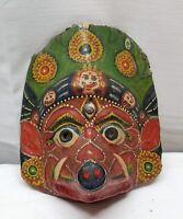 Vintage Antique Buddhist Tibetan Tibet Mask Mahakala Paper Mache Folk Art China