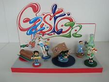 Figurines PIXI en plomb Franquin origine numéro 2 - Gaston, Spirou + Socle