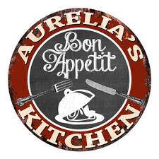 CPBK-0898 AURELIA'S KITCHEN Bon Appetit Chic Tin Sign Decor Gift Ideas