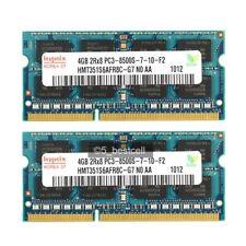 New Pair Hynix 8GB 2X4GB PC3-8500 DDR3-1066Mhz 204pin DDR3  Laptop Memory ram