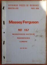 Massey Ferguson Mähdrescher MF 187 Ersatzteilliste