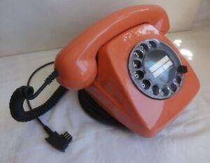 Telefon 70-er Wählscheibe Lachsrot/Rosa FeTAp 611 SEL volle Funktion+Top-Zustand