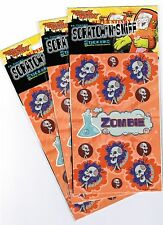 3 Packs 6 Sheets Dr Stinky ZOMBIE Scented Scratch n Sniff Stickers!