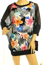 Coco Reef Women's Swimsuit Floral Black Chiffon-Combo Cover-Up