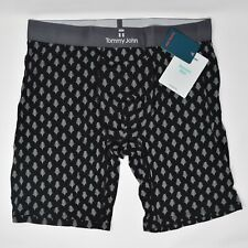 Tommy John Second Skin Boxer Briefs Black Snowy Forest XL Retail $37