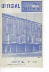 Leeds United v Everton 1964/65 FA Cup 4th Round