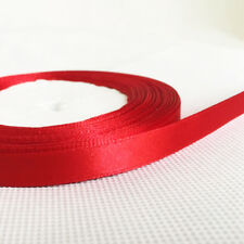 Red 25 Metres Single-sided Satin Ribbon 10 mm