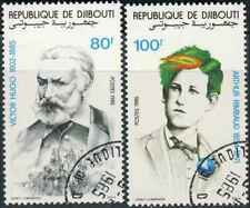 Timbres Personnages Ecrivains Rimbaud Hugo Djibouti 607/8 o (40595Z)