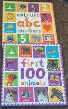 ELC Set of 2 Books First 100 Animals and Colours ABC Numbers ( large) Kids Sale