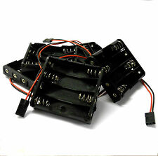 Titular de la batería RC C1203-1x5 Estuche Caja Pack 4 x AA JR 3 Pin X 5