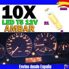 10 x LED 5mm cóncava amarillo con accesorios amarillos concave LED
