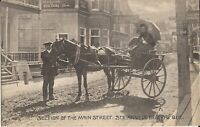 Ste. Anne De Beaupre, Quebec - CANADA - Main Street - horse and buggy, dirt road
