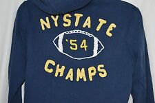 Aeropostale Mens Medium Zip Up Hoodie Navy Blue NEW NY State Champs '54 Football