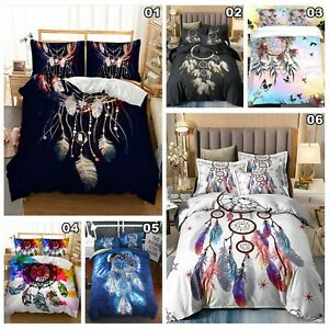Dream Catcher Doona Duvet Quilt Cover Set Single Double Queen King Size Bedding