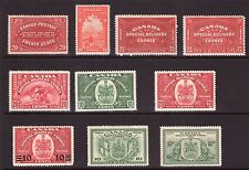 CANADA Special Delivery stamps 1922/46 ,multiple,multi-colour lightly hinged