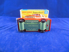Very Rare Matchbox Superfast  No. 6a Ford Pickup Truck in Red Silver Green Base