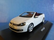 VW GOLF 6 RABBIT CONVERTIBLE 2013 PURE WHITE SCHUCO 07467 1/43 WEISS BIANCA