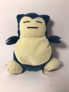 "Vintage 1998 Pokemon Snorlax Plush Stuffed Animal Toy Nintendo 5 1/2"""