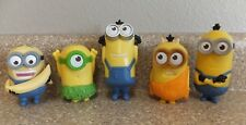 5 McDONALDS MINION PLASTIC TOY FIGURES