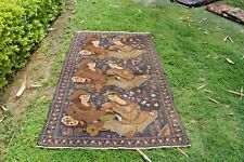 Stunning Pictorial Portriat Carpet Fine Weave Tree of life Rug for Wall Hanging