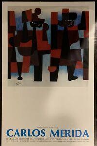CARLOS MERIDA Signed Exhibition Poster, 1977