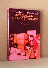 Introduzione alla costituzione - Bobbio, Pierandrei - Laterza