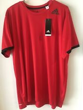 Adidas Climalite Red Tee Men's XL NWT. A9