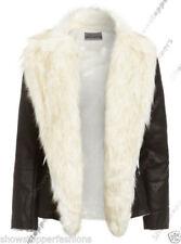 Manteaux et vestes motards noirs en cuir pour femme