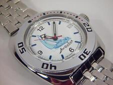 Brutal !! Automatic amphibian watch VOSTOK. 200m WR. 2416b. 710615-22. Sailboat.