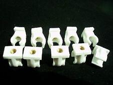 10x clip de tubo abrazadera de tubo plástico con latón manguito roscado para conducto de combustible 12mm