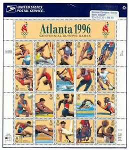 USA Scott 3068; 1996 Atlanta Olympic Games MNH Sheet of 20 w/ Original Wrap