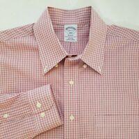 Brooks Brothers Regent Mens Plaid Button Front L/S Dress Shirt Size 16-6/7 D316
