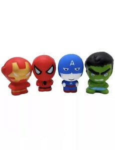 Squeeze Squishy Toy Pack Of 4 In One (Spider-Man. Hulk.Iron Mam.Captain America)