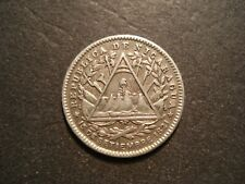 1887 - H  Nicaragua  10 Cents   Silver