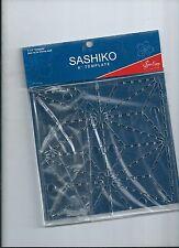 """SASHIKO 6""""TEMPLATE - Asa no ha (HEMP LEAF)"""
