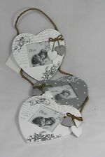 SET of 3 PHOTO PICTURE FRAMES Shabby Chic Vintage Retro Style