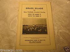 Grass Silage Livestock Kalamazoo Tank & Silo co agriculture farming advertising