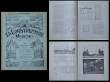 LA CONSTRUCTION MODERNE n°23-1913- ABATTOIRS LA HAYE, DEN HAAG, SCHADEE