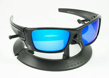 OAKLEY FUEL CELL POLISHED BLACK INK FRAME / REVANT ICE BLUE POLARIZED CUSTOM