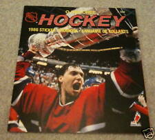 1986 O-Pee-Chee NHL Hockey Sticker Unused Album Patrick Roy Stanley Cup on Cover