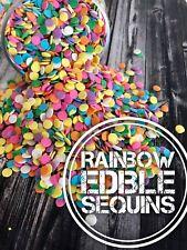 Edible Rainbow Sequins Confetti Cake Decorations