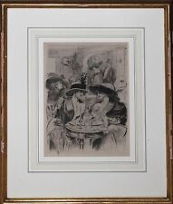 RICHEY-Signed LIM.ED Etching-Two Women-Tea at Rumplemyers-Circa Early 1900s