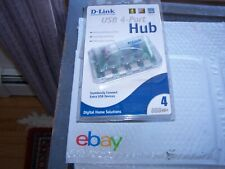 D-Link USB 4-Port Hub with AC Power for Macintosh or PC