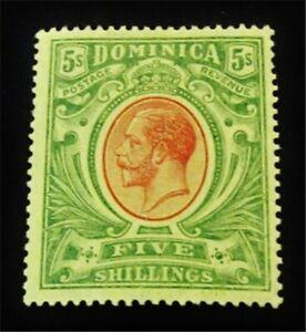 nystamps British Dominica Stamp # 54 Mint OG H $70 J15y2538