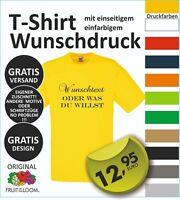 TOP T-Shirt mit Wunschdruck, Logo, Wunschtext, vom Profi entwerfen lassen  #12