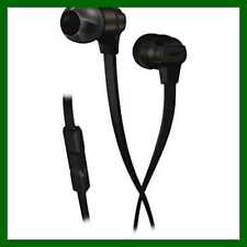Munitio Headphones SV, Mobile Performance Earphones w/ 3 Button Mic, BLACK